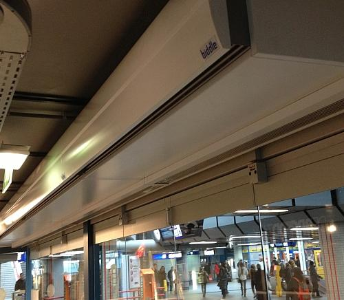 Comfortable indoor climate thanks to the DoorFlow air curtain model