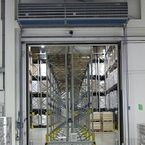 Biddle IndAC2 air curtain separates climates in doorways leading to cold stores and freezer stores