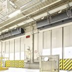 Biddle IndAC2 Industrial air curtains for climate separation